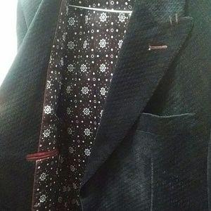 Eleganza Uomo Suits & Blazers - Black Velvet Dinner Jacket 38R (Eleganza Uomo)